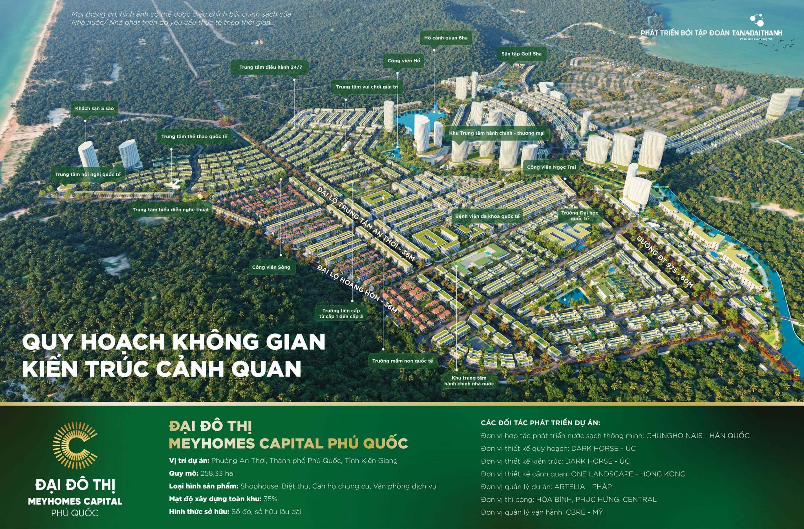 Phối cảnh toàn khu đại đô thị Meyhomes Capital Phu Quoc