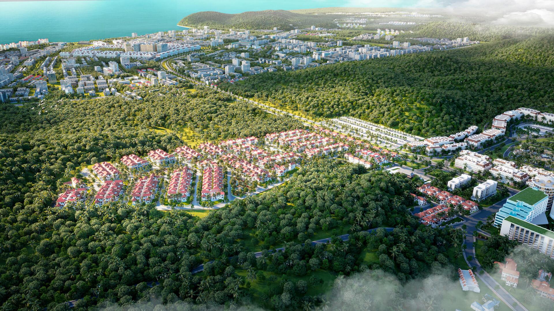 Phối cảnh tổng khu Sun Tropical Village