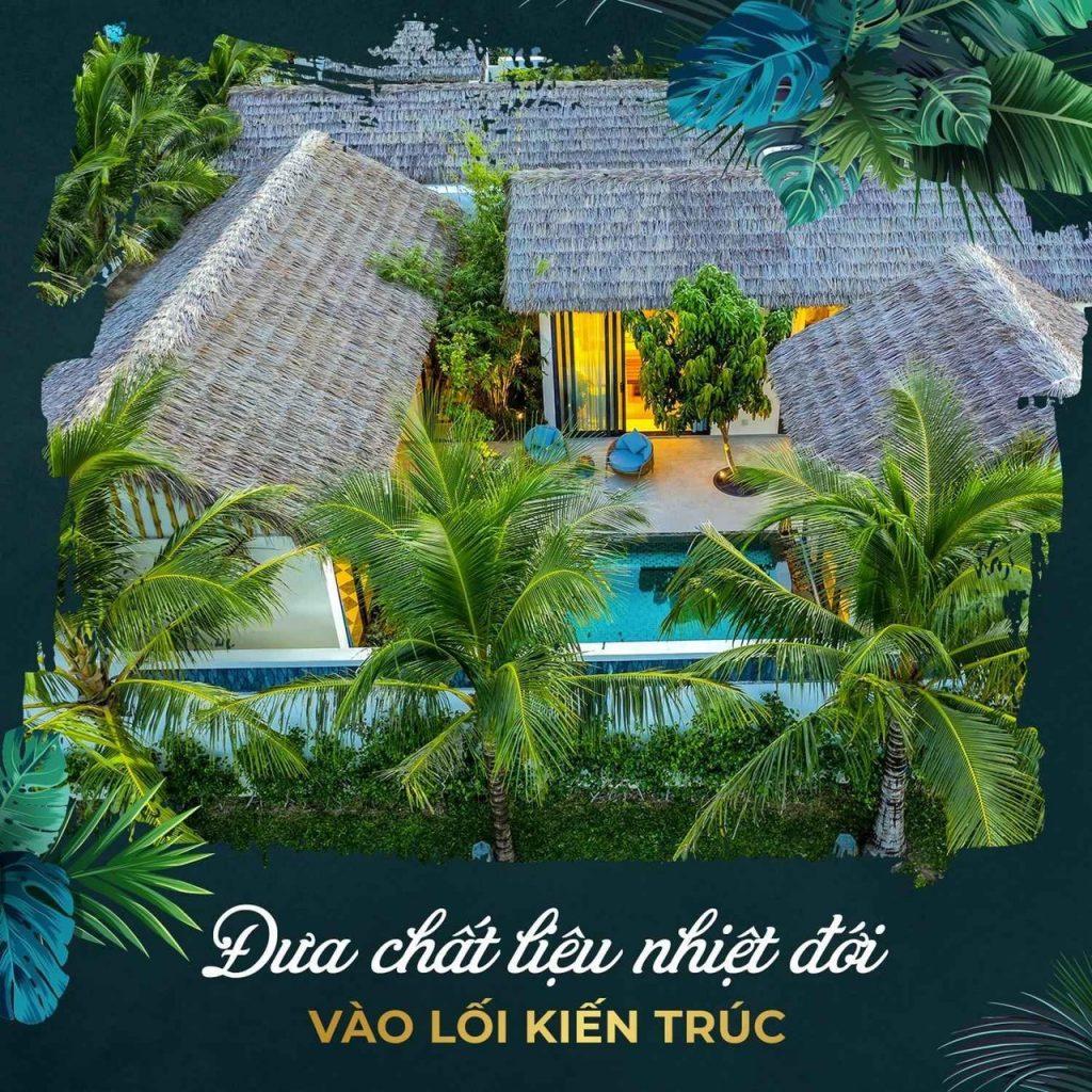 Tropical Village Phú Quốc đưa phong cách nhiệt đới vào kiến trúc cảnh quan