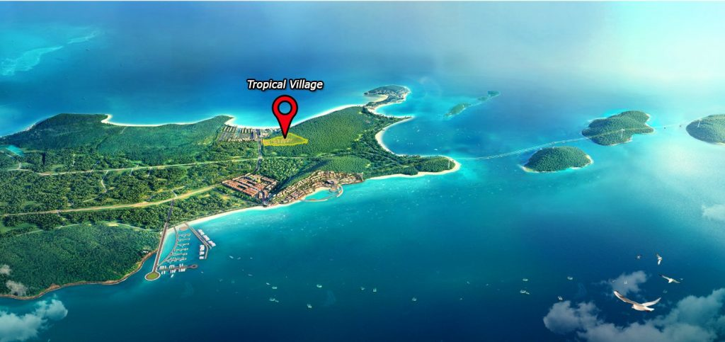 Vị trí công viên Tropical tại bãi Kem Phú Quốc