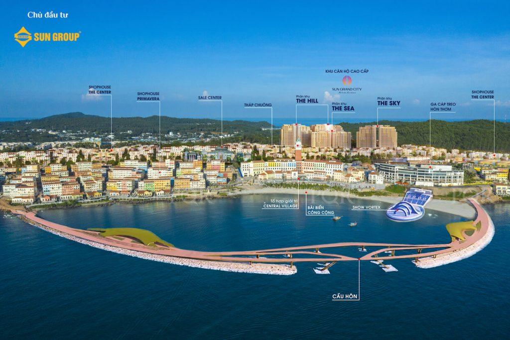 Toàn cảnh dự án căn hộ view biển Sun Grand City Hillside Residence ở Nam Phú Quốc