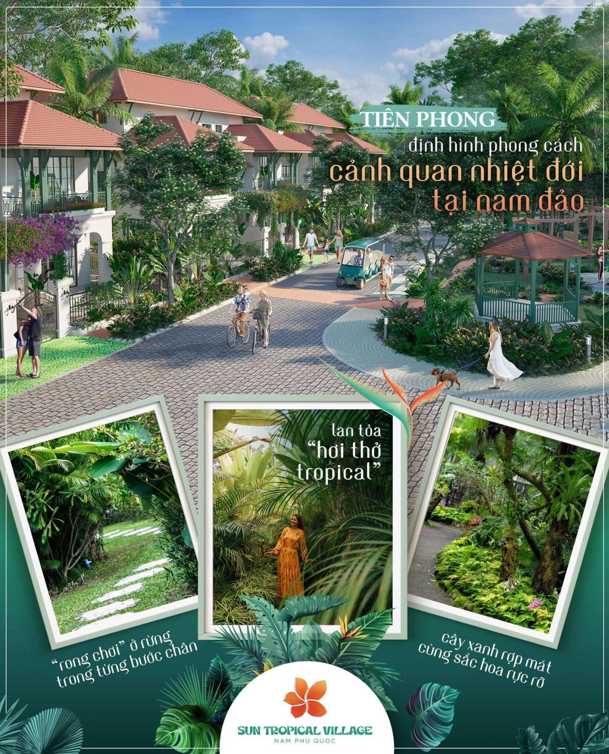 Hệ thống tiện ích Sun Tropical Village