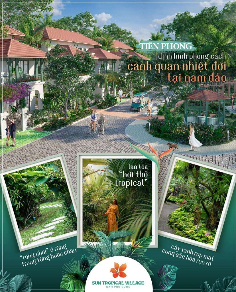 Hệ thống tiện ích tại dự án làng nhiệt đới Sun Tropical Village