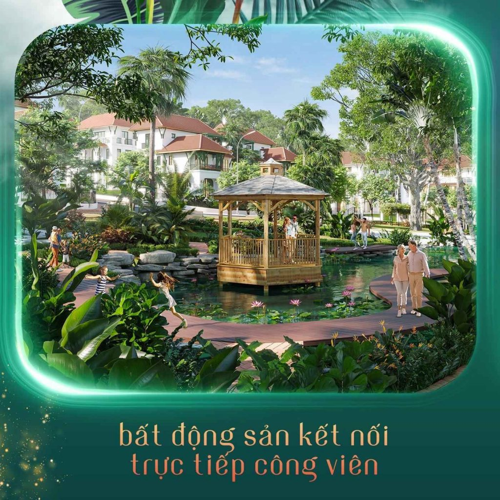 Công viên với Không gian sống xanh tại làng nhiệt đới Sun Tropical Village Phú Quốc