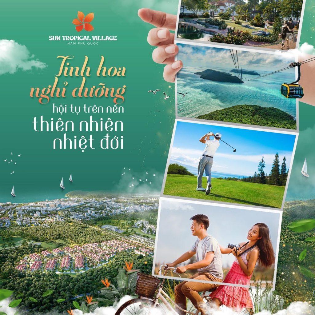 Dự án bất động sản nghỉ dưỡng Sun Tropical Village Phú Quốc được thiết kế theo phong cách nhiệt đới,